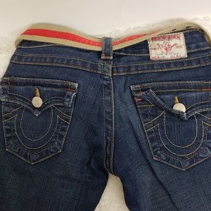 True Religion mid rise jeans with bootcut sz 25
